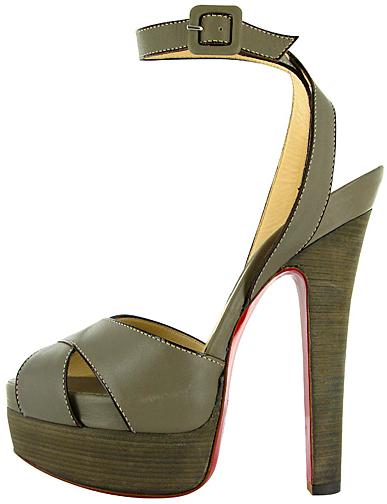 Leather ankle platform sandal Christian Louboutin Spring 2011