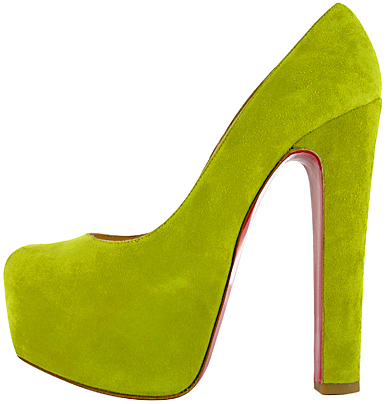 Christian Louboutin Daffy yellow platform pump Fall 2011