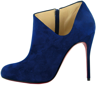 Christian Louboutin Fall 2011 Blue Suede boot