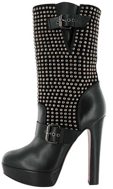 Christian Louboutin Fall 2011 stud and buckle boot