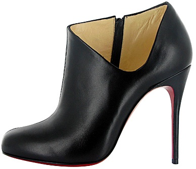 Christian Louboutin black leather short boot fall 2011