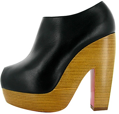 Christian Louboutin wood platform bootie Fall 2011
