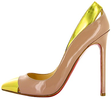 Gold toe cutout PIgalle pump Chrisitan Louboutin 2011