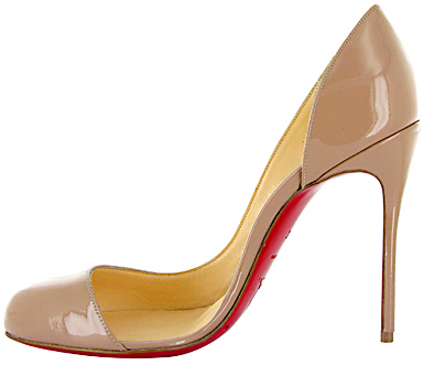 Helmour nude patent Christian Louboutin Fall 2011