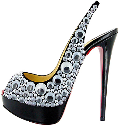 Lady Peep Sling googly eyes Christian Louboutin Fall 2011