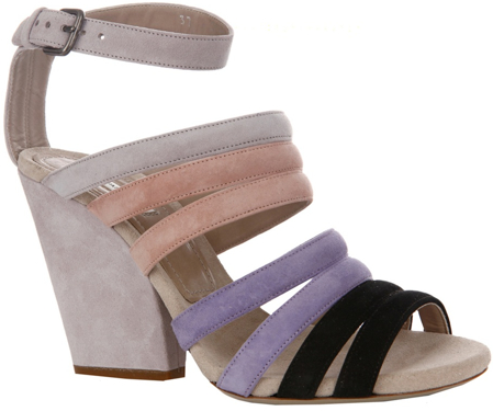 Dries Van Noten multi-strap suede sandal