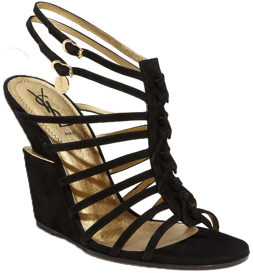 Yves Saint Laurent strappy Trybal wedge