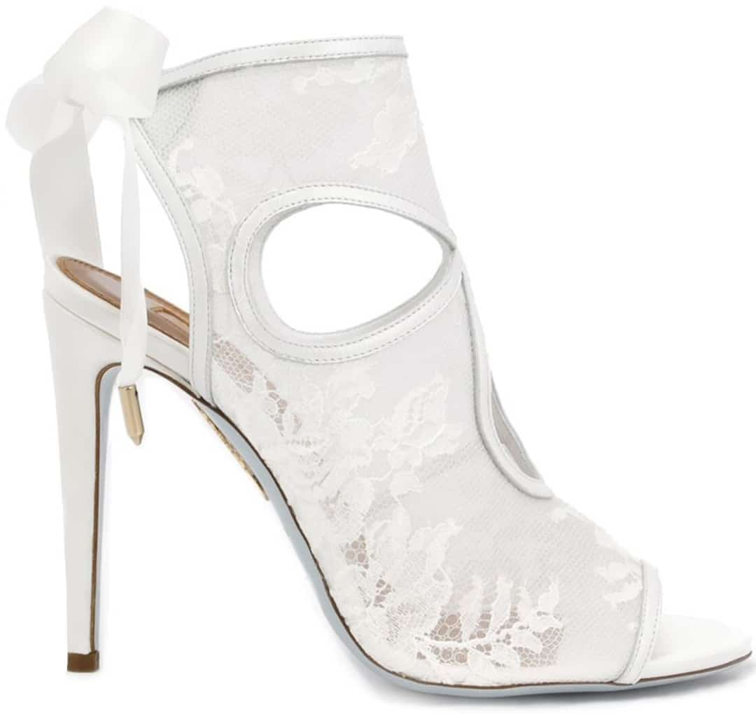 aquazzura sexy thing white lace bridal sandals