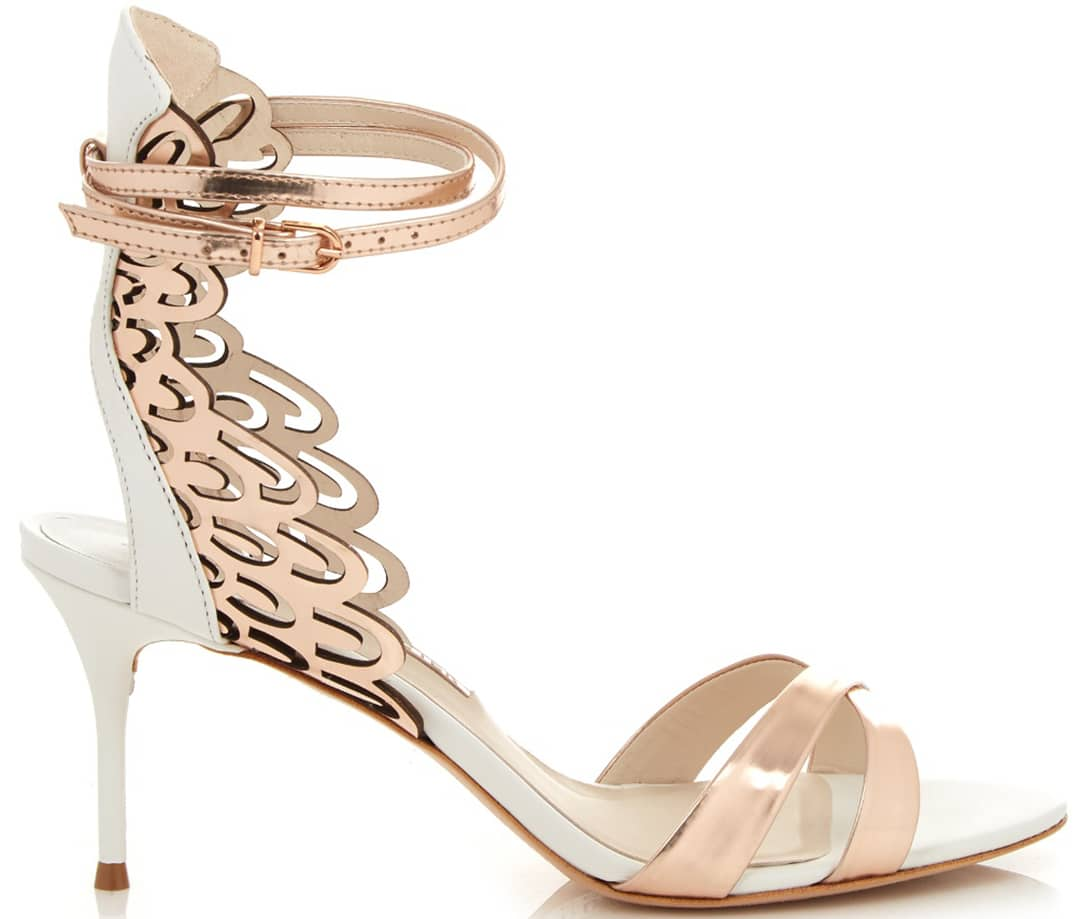 sophia webster micah angel wing leather sandals