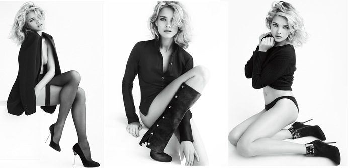 natalia vodianova for stuart weitzman fall 2012