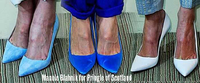 Manolo Blahnik Pringle of Scotland Spring 2013