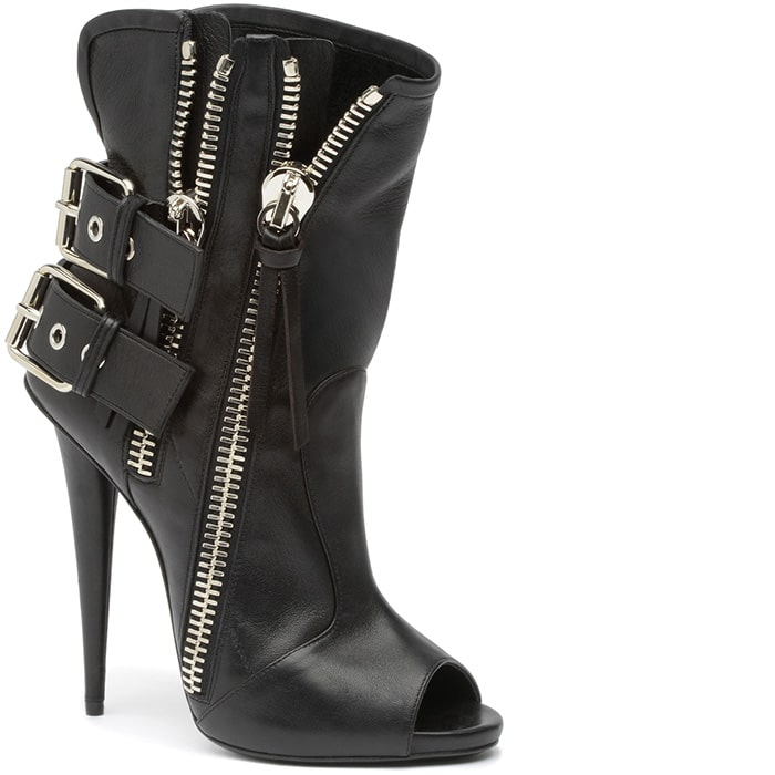 Giuseppe Zanotti Peep-Toe Leather Booties free shipping extremely perfect sale online cost sale online for sale official site IlRq9DXe