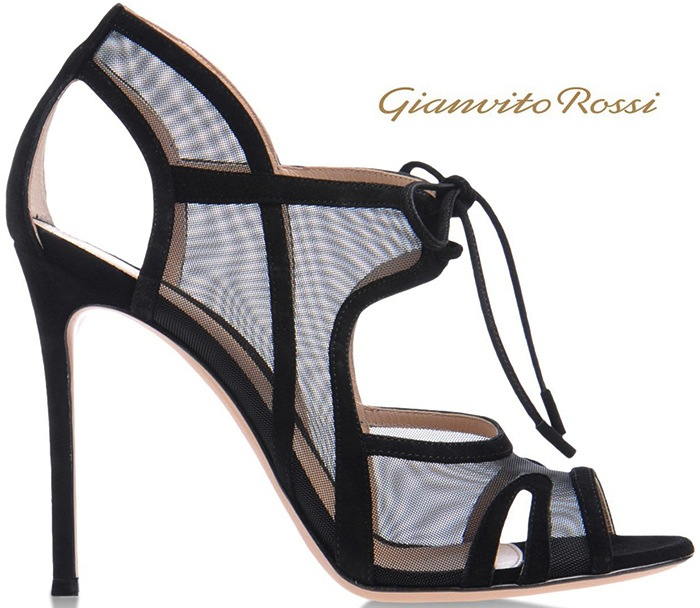 Gianvito-Rossi-Black-Suede-Mesh-Sandal-Lace-UP