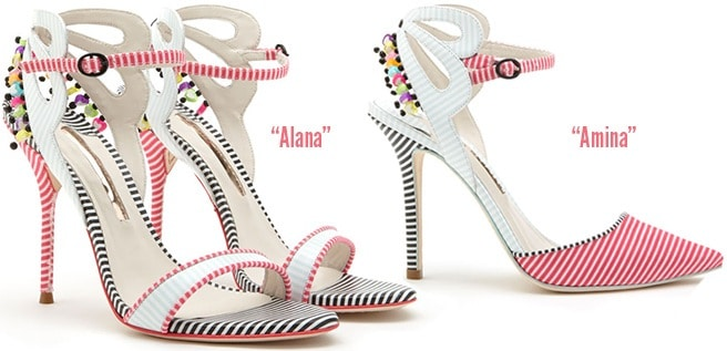 Sophia-Webster-Spring-2014-Alana-sandal-Amina-pump-striped