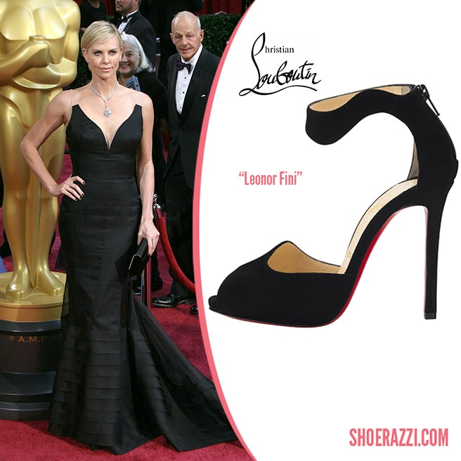 Christian-Louboutin-Leonor-Fini-sandal-black-suede-Spring-2014-Charlize-Theron