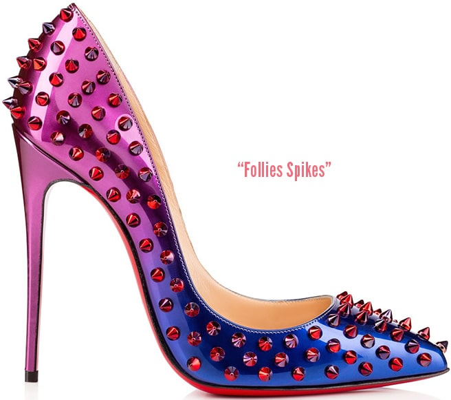 Christian-Louboutin-Follies-Spikes-ombre-blue-Fall-2015-shoes