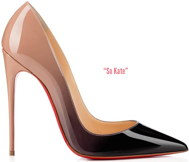 154165a4f8c Christian-Louboutin-So-Kate-ombre-pump. So Kate pointed-toe pump in nude   black  patent leather ...