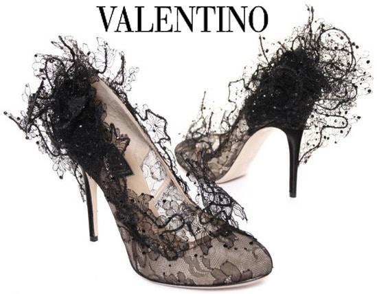 Valentino Sculptured Lace Pump
