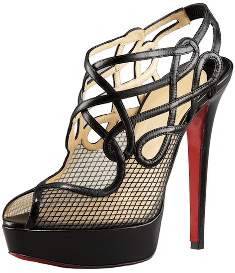 Brandaplato Black Fishnet Bootie Christian Louboutin Resort 2011