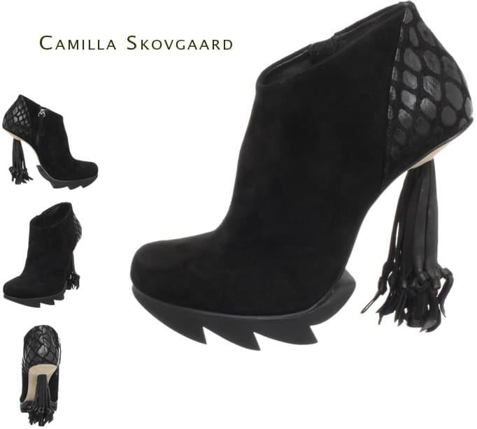 Camilla Skovgaard fringed tassel ankle boot