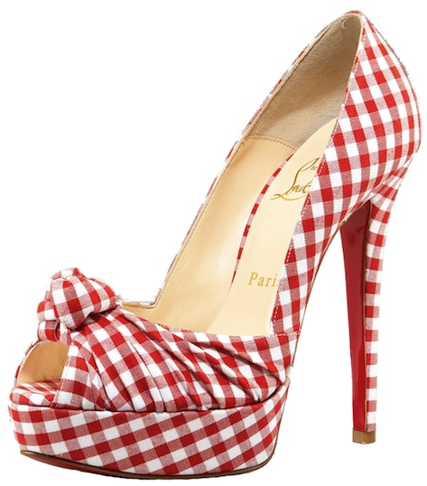 Greissimo Gingham Knot Pump Christian Louboutin Resort 2011