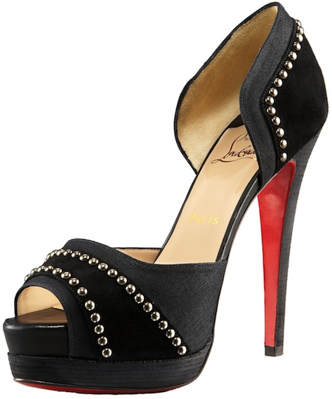 Henry Studded d'Orsay black Christian Louboutin Resort 2011