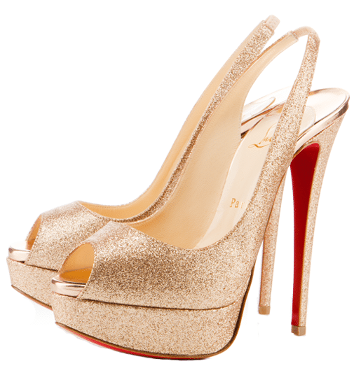 Lady Peep Glittered Slingback Christian Louboutin Resort 2011