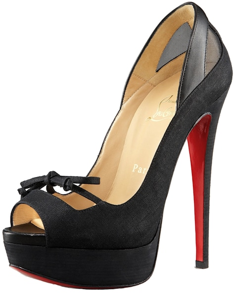 Maleva Black Peep-Toe Mary Jane Pump Christian Louboutin Resort 2011