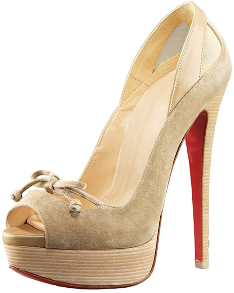Maleva Beige Peep-Toe Mary Jane Pump Christian Louboutin Resort 2011