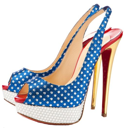 Miss America Lady Peep Slingback Christian Louboutin Resort 2011