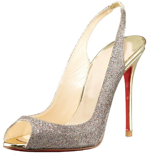 Sexy Sling Glittered Stiletto Christian Louboutin Resort 2011