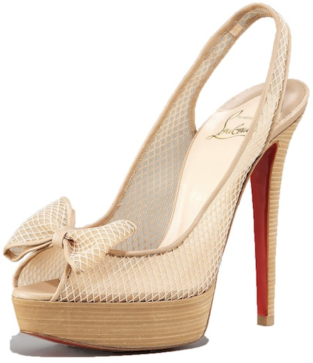 Exclu Fishnet bow Christian Louboutin Spring 2011