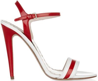 Miu MIu Two tone red patent sandal