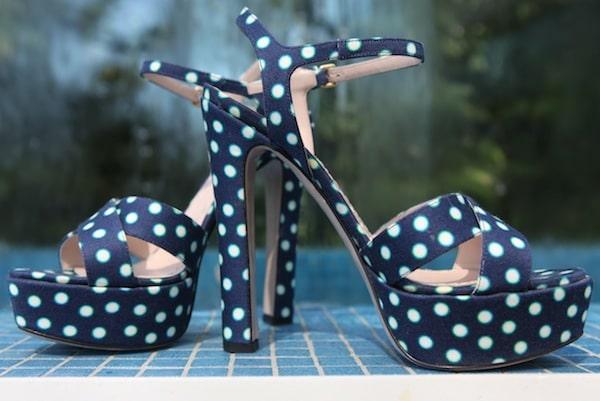 Miu Miu Polka Dot Sandal
