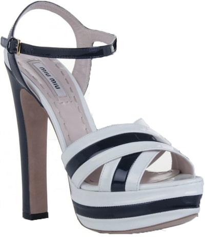 Miu Miu Two tone patent leather platform sandal