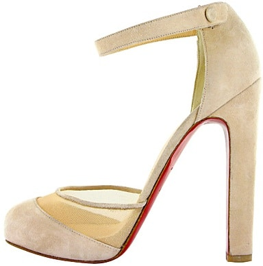 Beige suede and mesh pump Christian Louboutin Fall 2011