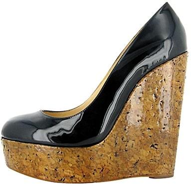 Black Patent Cork wedge Christian Louboutin Fall 2011