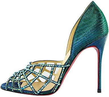 Christian Louboutin crystal web sandal Fall 2011