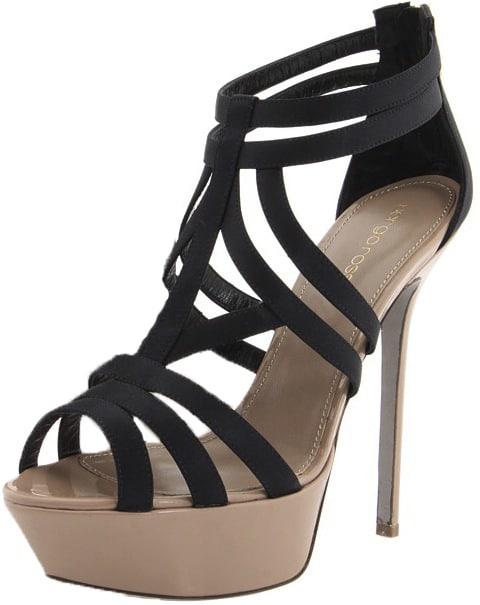Cachet Antiope Sergio Rossi black platform sandal