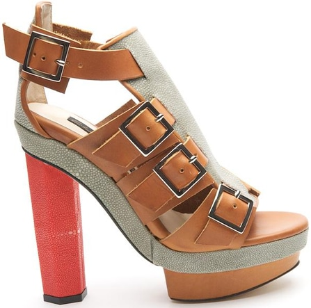 Chrissie Morris Priscilla buckle platform sandal