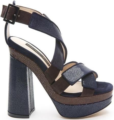 Chrissie Morris Zena cross front platform sandal
