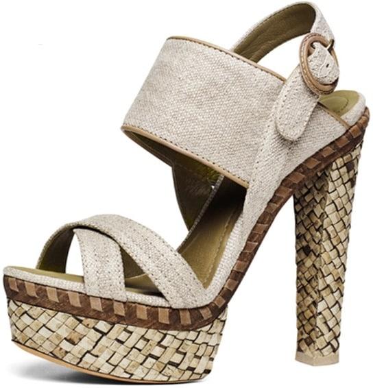Donna-Karan-Canvas-woven-platform-sandal