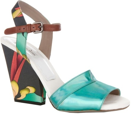 Dries Van Noten floral print sandal