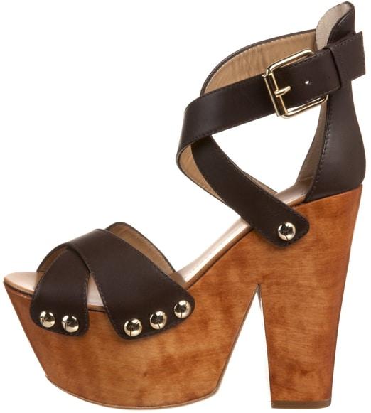 Giuseppe Zanotti Brown Clog platform sandal