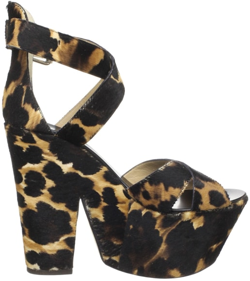 Giuseppe Zanotti leopard platform sandal