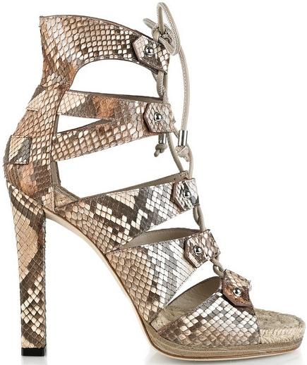 Gucci Jasmine lace-up python sandal