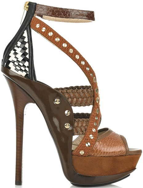 Jimmy Choo Vivienne mixed media platform sandal