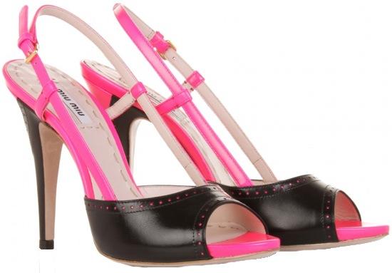 Miu Miu Two Tone slingback sandal