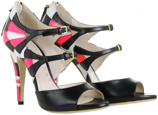 Miu Miu tri-color double buckle Mary Jane sandals