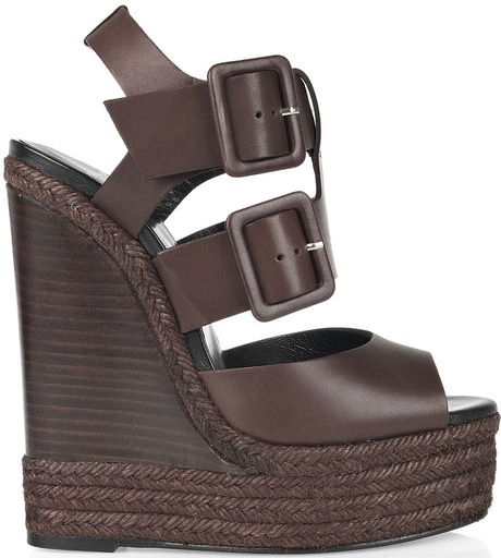 Pierre Hardy buckled wedge sandal